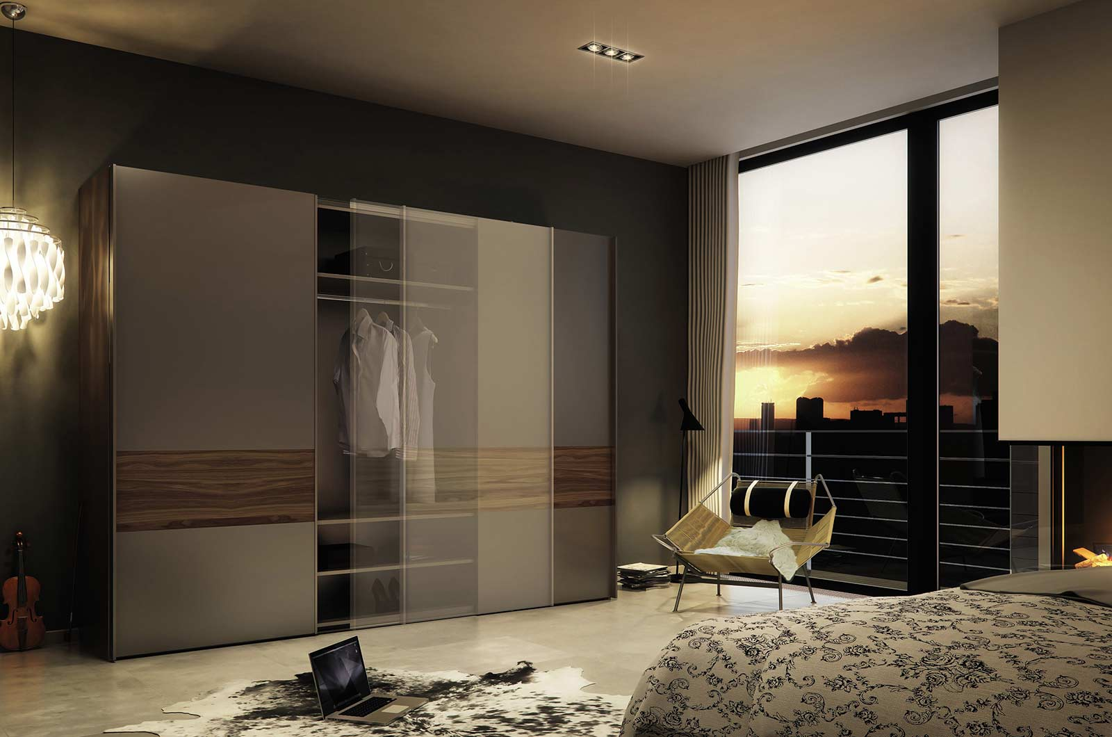 Wardrobe shutters dealers in delhi india In room designs